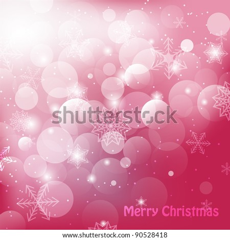 Shiny christmas background with snowflakes and greetings vector illustration