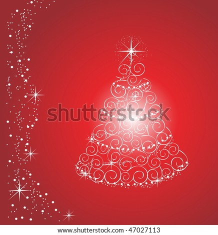 shiny Christmas Tree, vector