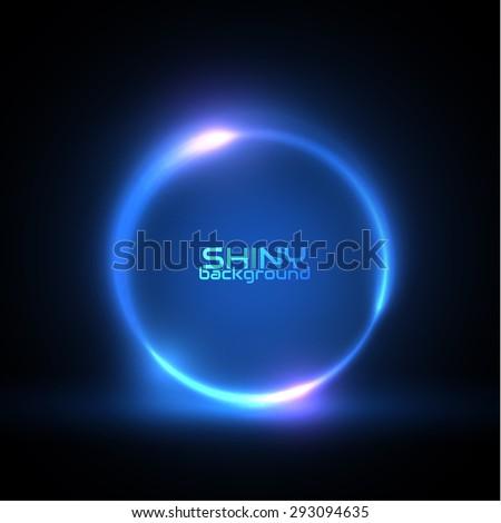 Shiny circle frame. Vector eps10 - stock vector
