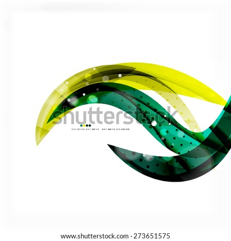 Shiny colorful abstract background, green and blue color. Modern template - stock vector