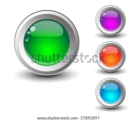 Shiny colorful buttons.Vector - stock vector