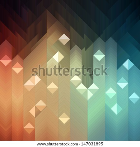 Shiny colorful mosaic background, vector eps8 illustration - stock vector