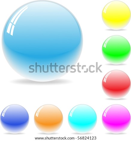 shiny cool color sphere - vector