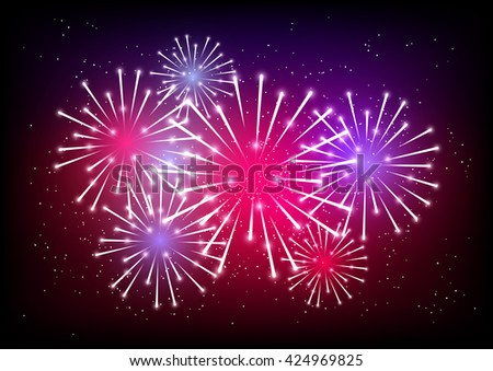 Shiny fireworks for Your design