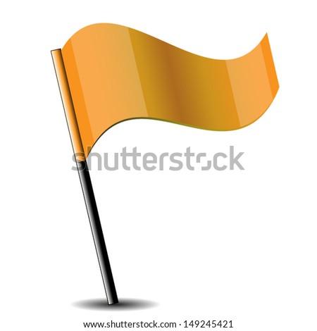 Shiny Flag Icon. High quality vector illustration. Eps10. - stock vector