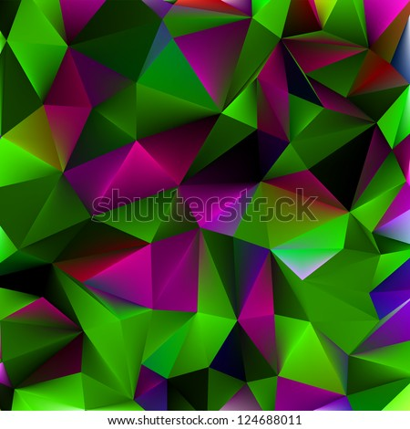 Shiny geometric background in purple|green color. EPS 8 vector file included - stock vector