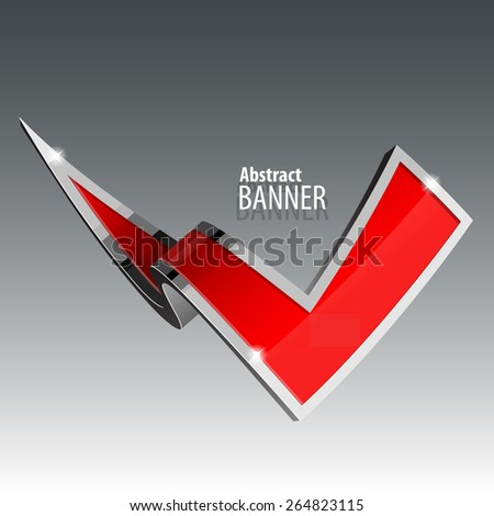 Shiny gloss red vector banner. eps 10 - stock vector