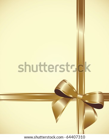 Shiny gold ribbon - stock vector