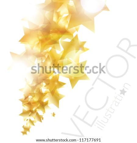 Shiny golden stars background vector eps10 - stock vector