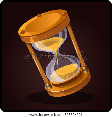 shiny hourglass vector icon game - stock vector