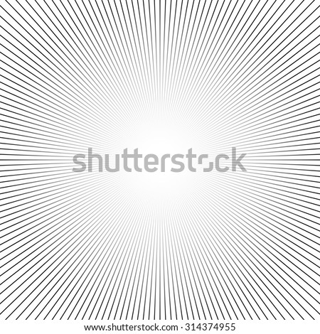 Shiny lights, abstract black & white line art background. Vector illustration. - stock vector