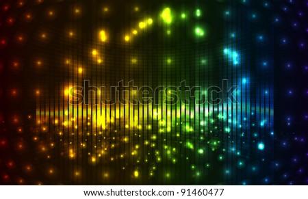 shiny lights vector background - stock vector
