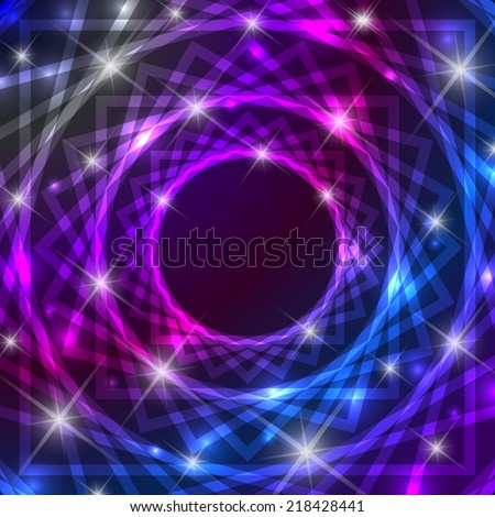 Shiny magical symbol background with glittering effect - stock vector