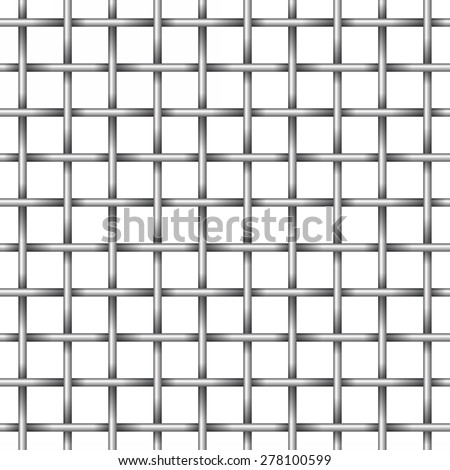 shiny metal grid - stock vector