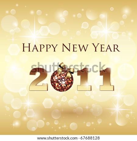 Shiny New Year Celebration Card - Background - stock vector