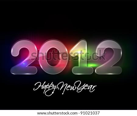 shiny new year 2012. Vector illustration - stock vector