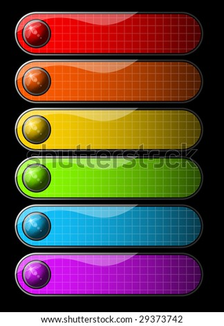Shiny orbs and banners - stock vector