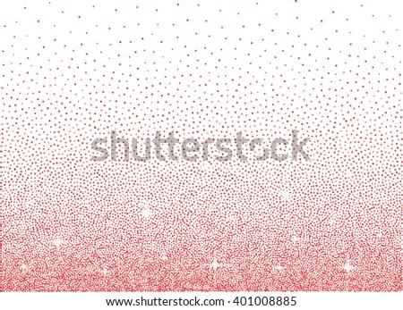 Shiny pink glitter diamond dust over white background - stock vector