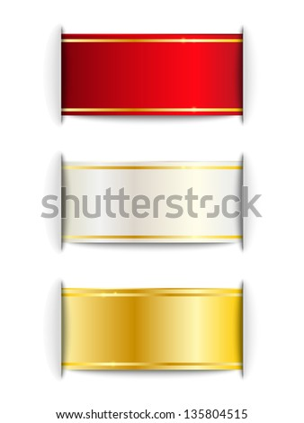 Shiny ribbons for Your design - stock vector