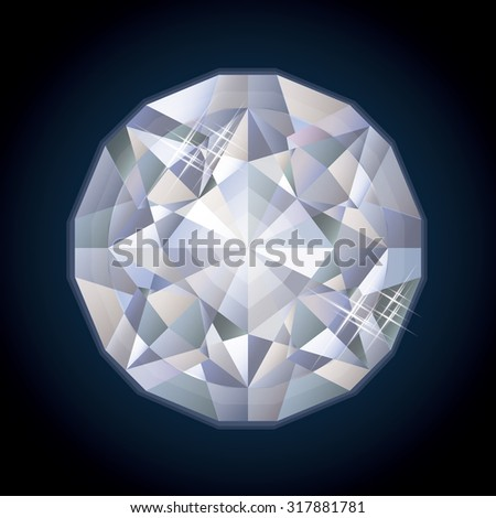Shiny royalty diamond, vector illustration