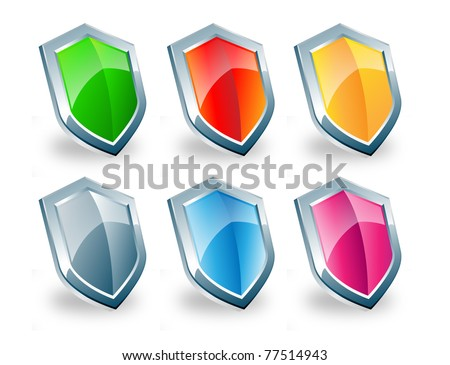 Shiny Shield (Vector) - stock vector