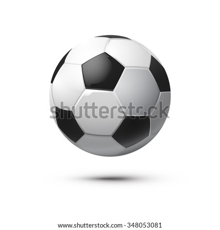 Shiny Soccer Ball. Vector Illustration. - stock vector