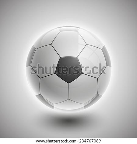 Shiny soccer ball waiting to be kicked, vector - stock vector