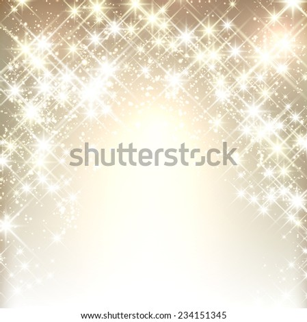 Shiny starry christmas background. Vector winter Illustration.  - stock vector