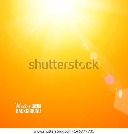 Shiny sunburst of sunbeams. Vector illustration. - stock vector