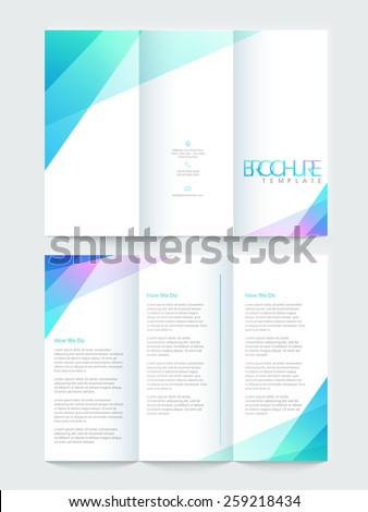 Shiny Tri Fold Brochure Template Flyer Stock Vector - Fold brochure template