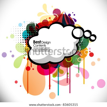 Shiny vector bubbles for speech , editable illustration - stock vector