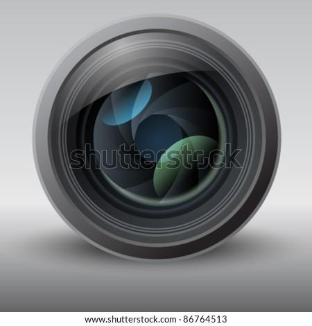 Shiny Vector Lens Illustration - stock vector
