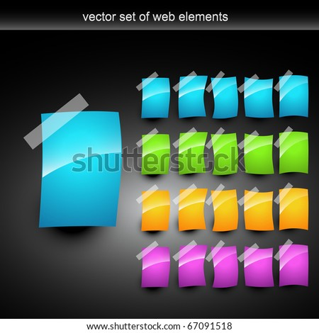 shiny vector pages set of different style and colors - stock vector