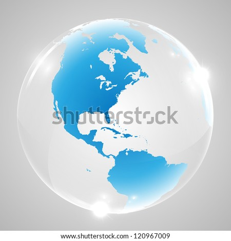 Shiny vector world - stock vector