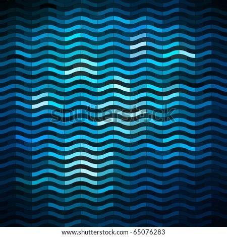 shiny wavy banner - stock vector
