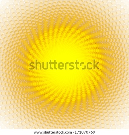 shiny yellow lights background - stock vector