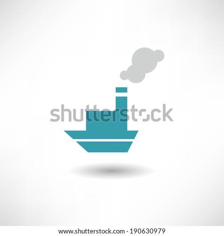 Ship icon - stock vector