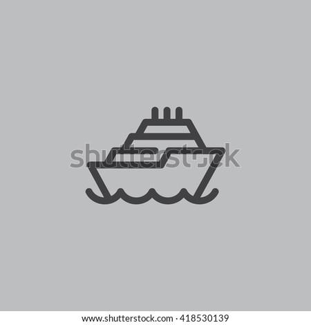 Ship icon Vector. - stock vector