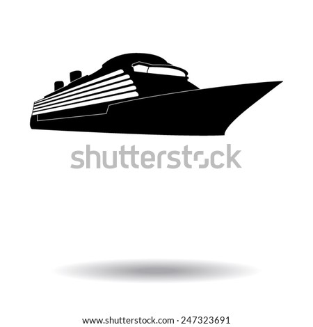 ship icons vector - stock vector