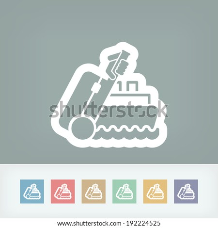 Ship travel - stock vector