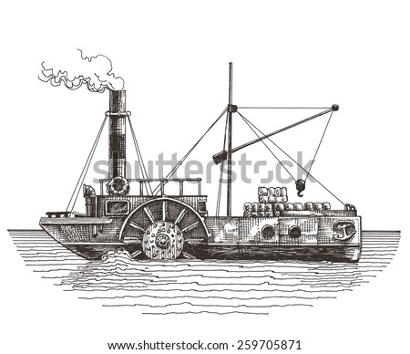 ship vector logo design template. steamboat or steamship icon. - stock vector