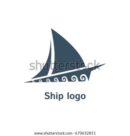 Ship Vector Logo Template Boat Sign Stock Photo (Photo, Vector ...
