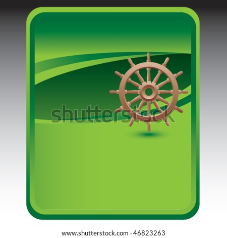ship wheel green background