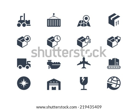 Shipping and logistic icons - stock vector