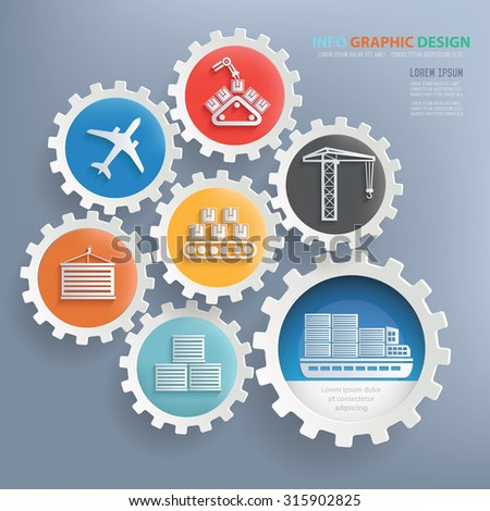 Shipping and transport infographic design,clean vector - stock vector