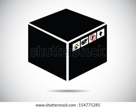 Shipping Box  - stock vector