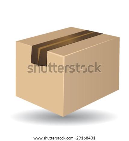 Shipping box vector isolated - stock vector