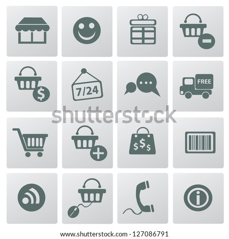Shipping icon set,vector - stock vector