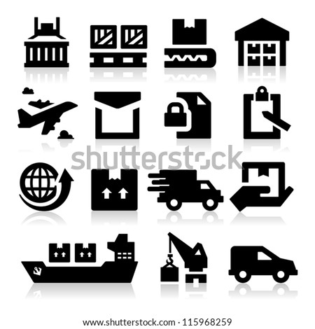 Shipping icons - stock vector