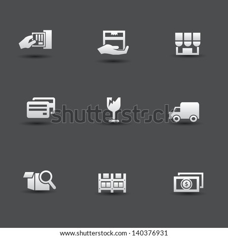 Shipping icons,vector - stock vector